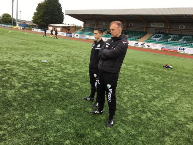 Scott Ruscoe ahead of their friendly win at Barry Town United