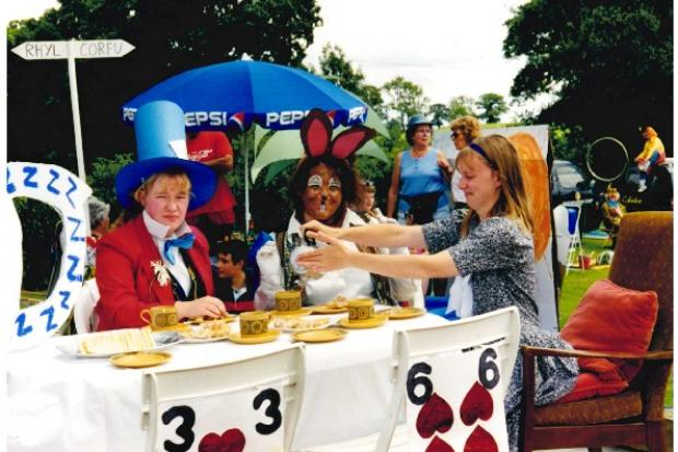 At the Mad Hatter's Tea Party were Catherine Melbourne, Jane Hamner and Hannah Iles