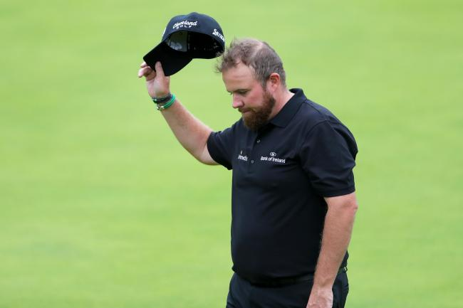 Shane Lowry claimed a share of the lead in the 148th Open at Royal Portrush