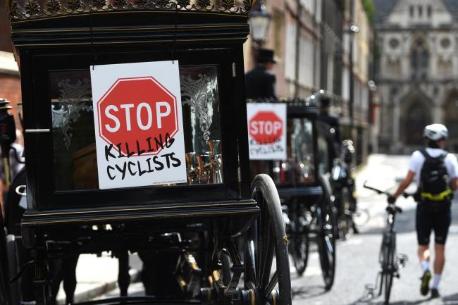 Cyclist death protest