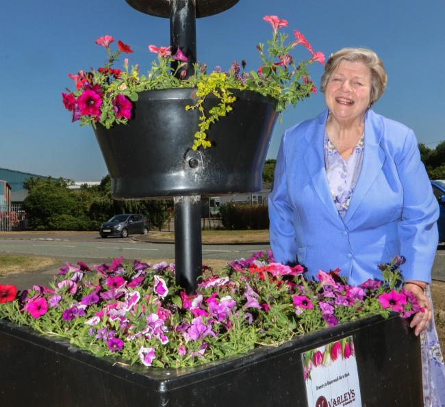 Betty Gull, chairman of Oswestry in Bloom
