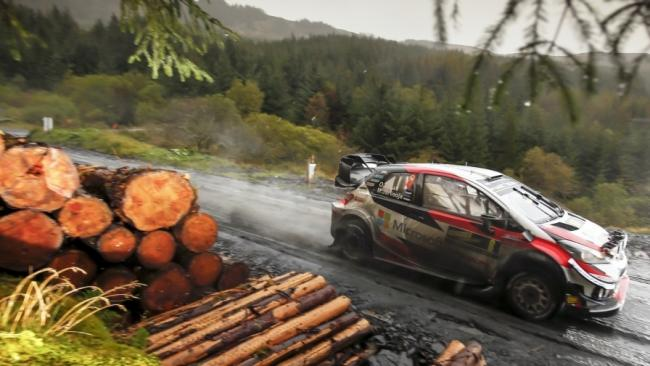 The Wales Rally GB flew through the forests of mid-Wales on Saturday. Picture: Wales Rally GB