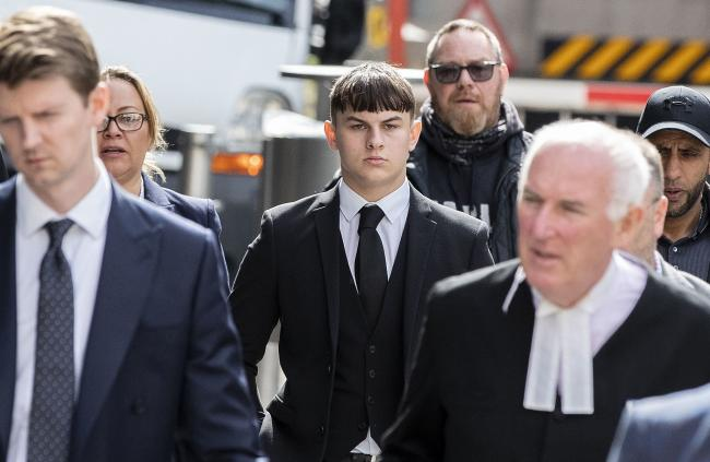 Joshua Molnar arriving at Manchester Crown Court.Peter Byrne/PA Wire