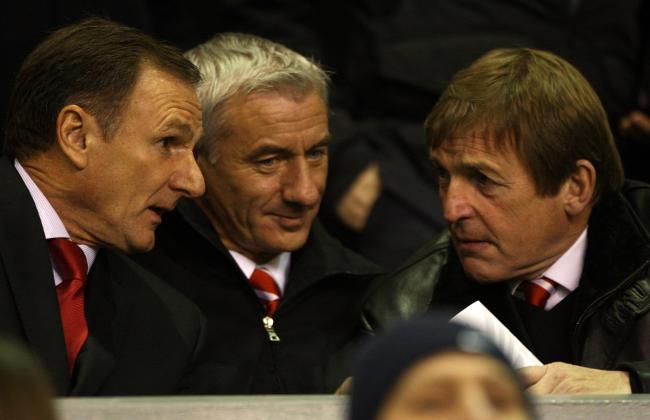Former Liverpool footballer Phil Thompson pictured with Ian Rush and Kenny Dalglish