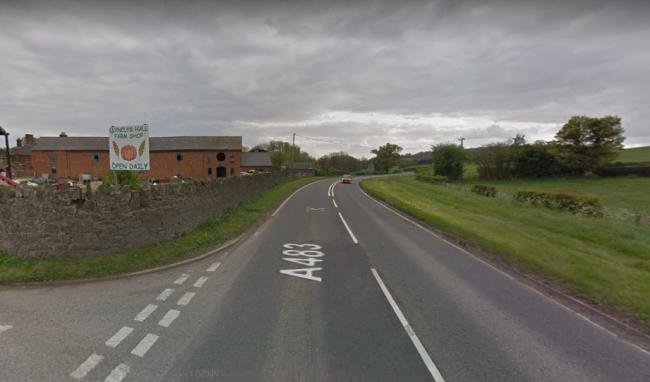 The A483 near Llynclys Hall. Picture by Google Maps