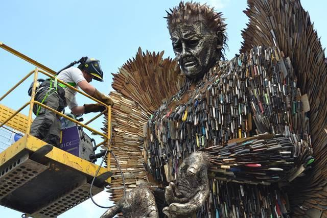 The Knife Angel is returning to the Ironworks this December