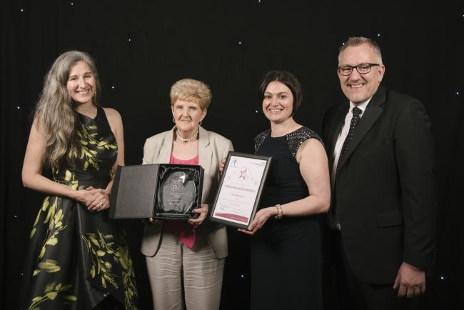 Dawn Humphries, partner at Lanyon Bowdler, who sponsored the Individual and Team Patient Choice Awards; winner of the Patient Choice Individual Award, Jean Blakemore, healthcare assistant on Alice Ward; Sophie Davies, chartered legal executive at Lanyon B
