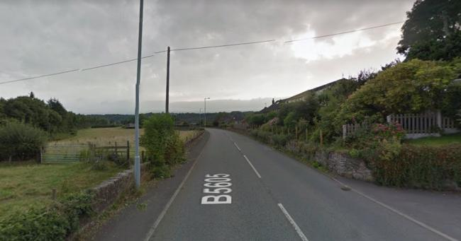 The B5065 road in Pentre. Picture by Google Maps