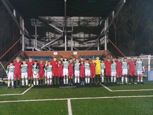 TNS Academy players with ProSoccerGlobal Hungary