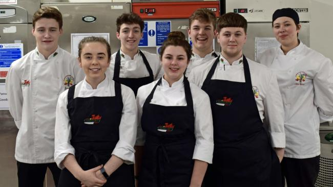 The Welsh junior culinary Olympics team