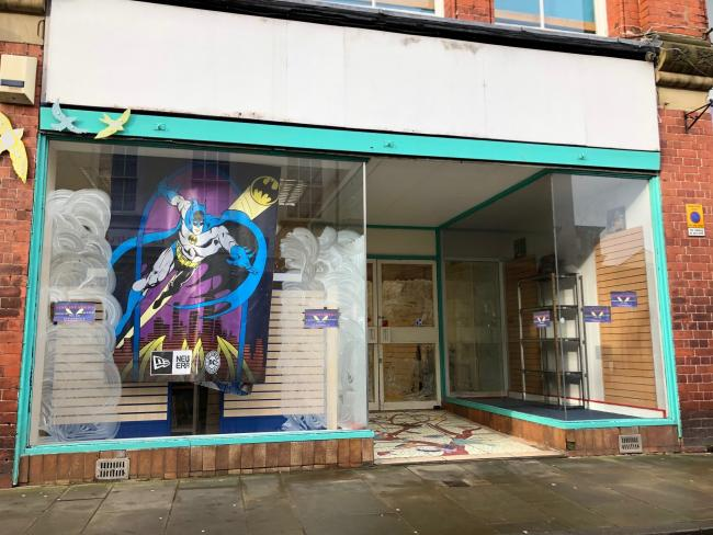 Work being done at the Time Invaders building in Oswestry