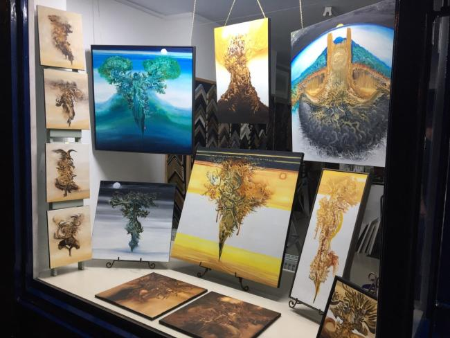 Chris Goodwin's art exhibition is underway in Oswestry