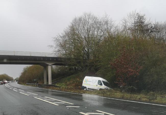 The stretch of the A5 where the flooding is meant to at its worst