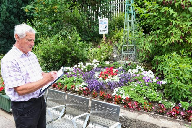 Jim Goodwin (chairman of Wales In Bloom) visiting the station previously