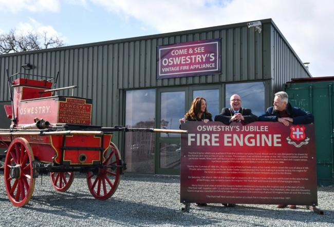 Cllrs Joyce Barrow and John Price with ironworks founder Clive Knowles promoting the 2020 event