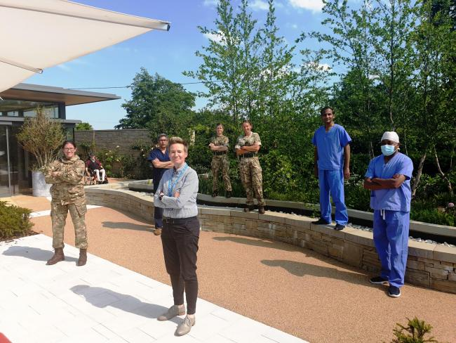 Acting chief executive Stacey Keegan with the hospital's reservists