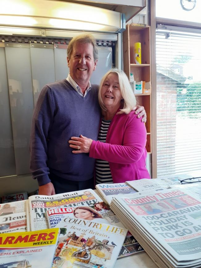 Ben and Wendy Griffiths, who ran the newsagents in Llansantffraid, have retired.