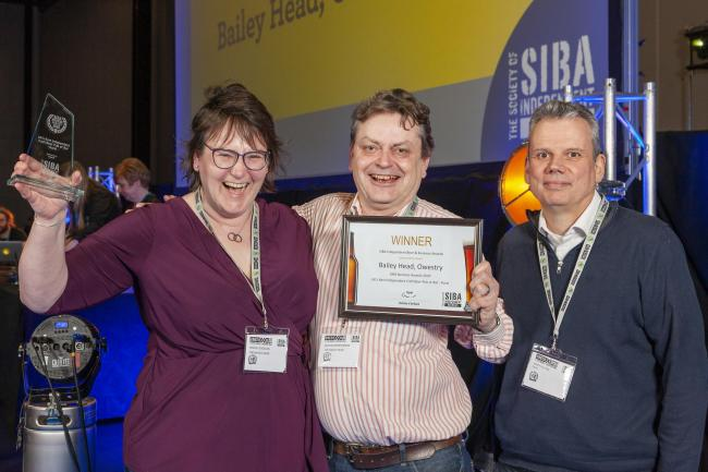 (LtoR) The Bailey Head owners, Grace Goodland, Duncan Borrowland and Barrie Poulter of SiBA