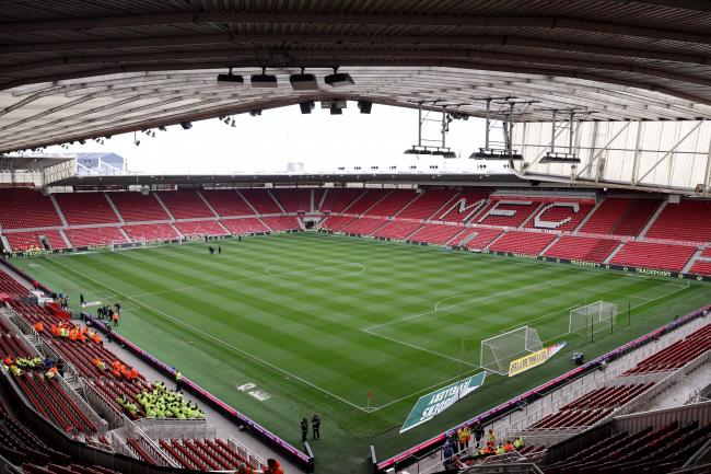 Fans are set to return at Middlesbrough this weekend