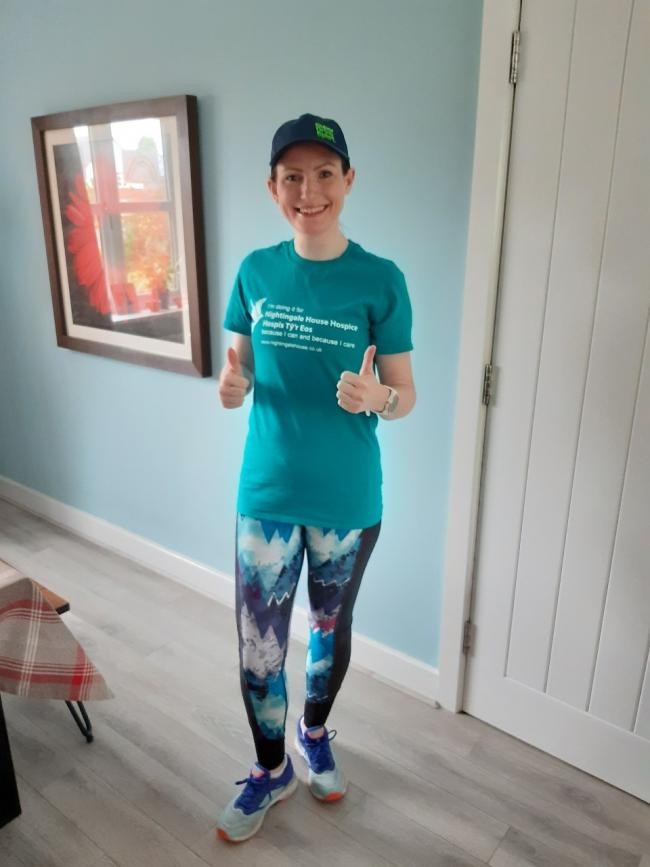 Gemma Bloomfield from Ellesmere has run for Nightingale House to raise funds.