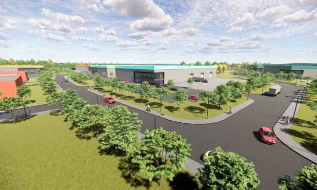 An architect's impression of the proposed Oswestry Innovation Park