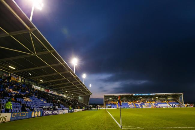 Fans return for Shrewsbury Town's and Charlton Athletic's match during the Sky Bet League One match at the New Meadow, Shrewsbury.
