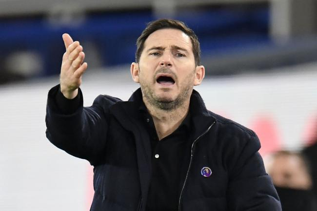 Frank Lampard shouts on the touchline
