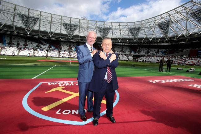 West Ham chairmen David Gold and David Sullivan (right) following the move from Upton Park to the Olympic stadium