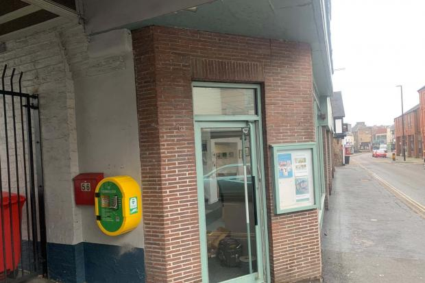 The new defibrillator in Willow Street.