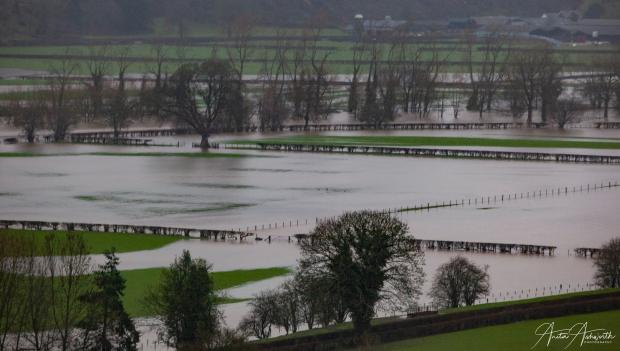 Border Counties Advertizer: Flooding in the Meifod area by County Times Camera Club member Nita Ashworth