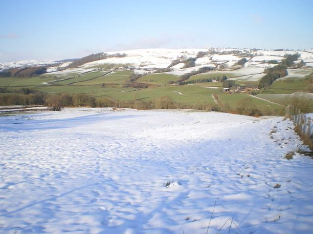 Snow in Foel. Picture: Geograph.