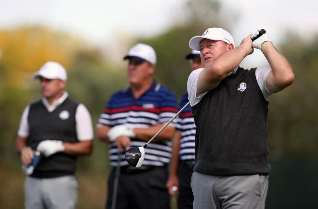 Europe's Ian Woosnam during the captain's challenge ahead of the 41st Ryder Cup at Hazeltine National Golf Club in Chaska, Minnesota, USA..