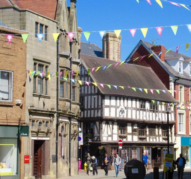 The bunting is back up in Oswestry.