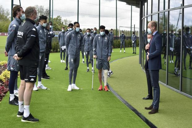 Prince William at the opening of Aston Villa's new training ground.