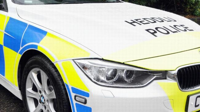 Library image of North Wales Police car