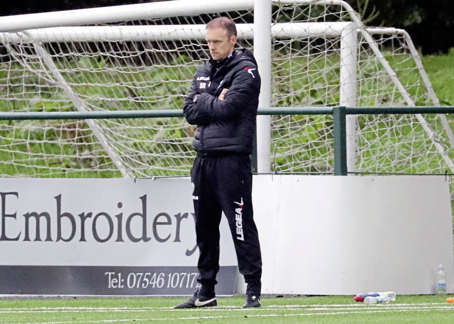 Scott Ruscoe on the touchline gainst Elgin PICTUER BY BRIAN JONES