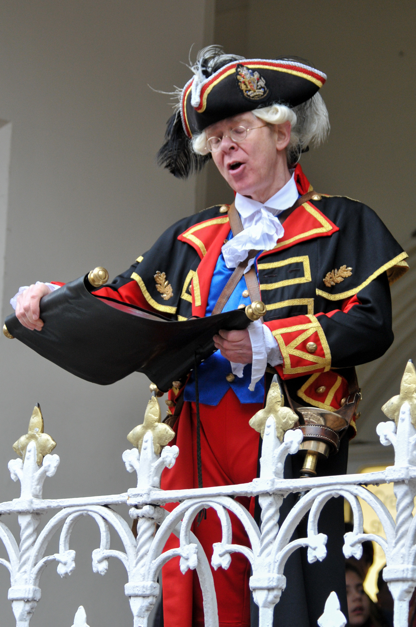 Oswestry are on the hunt for their new Town Crier. Pictured is Chester's Town Crier