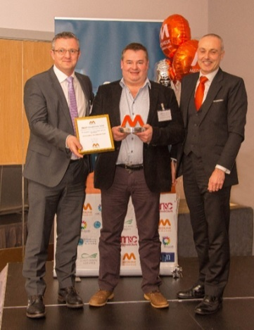 Physiological Measurements directors Andrew Honeyman, Jon Pither and Chief Executive of Medilink East Midlands Darren Clark