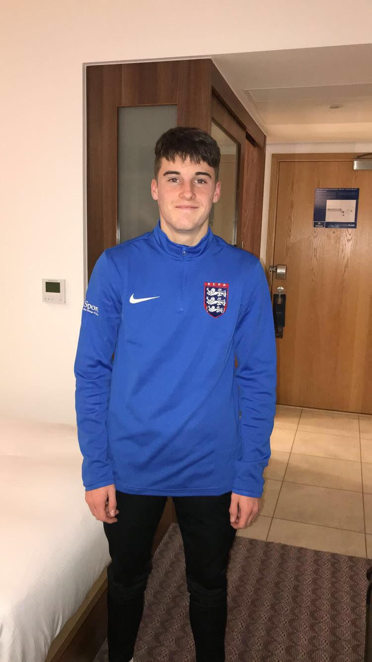 NSC Sport Scholarship Student Harry Bower, who has recently beenselected for the ECFA Under 18's football squad