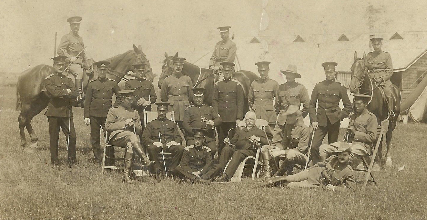 Officers of the North Shropshire Yeomanry.