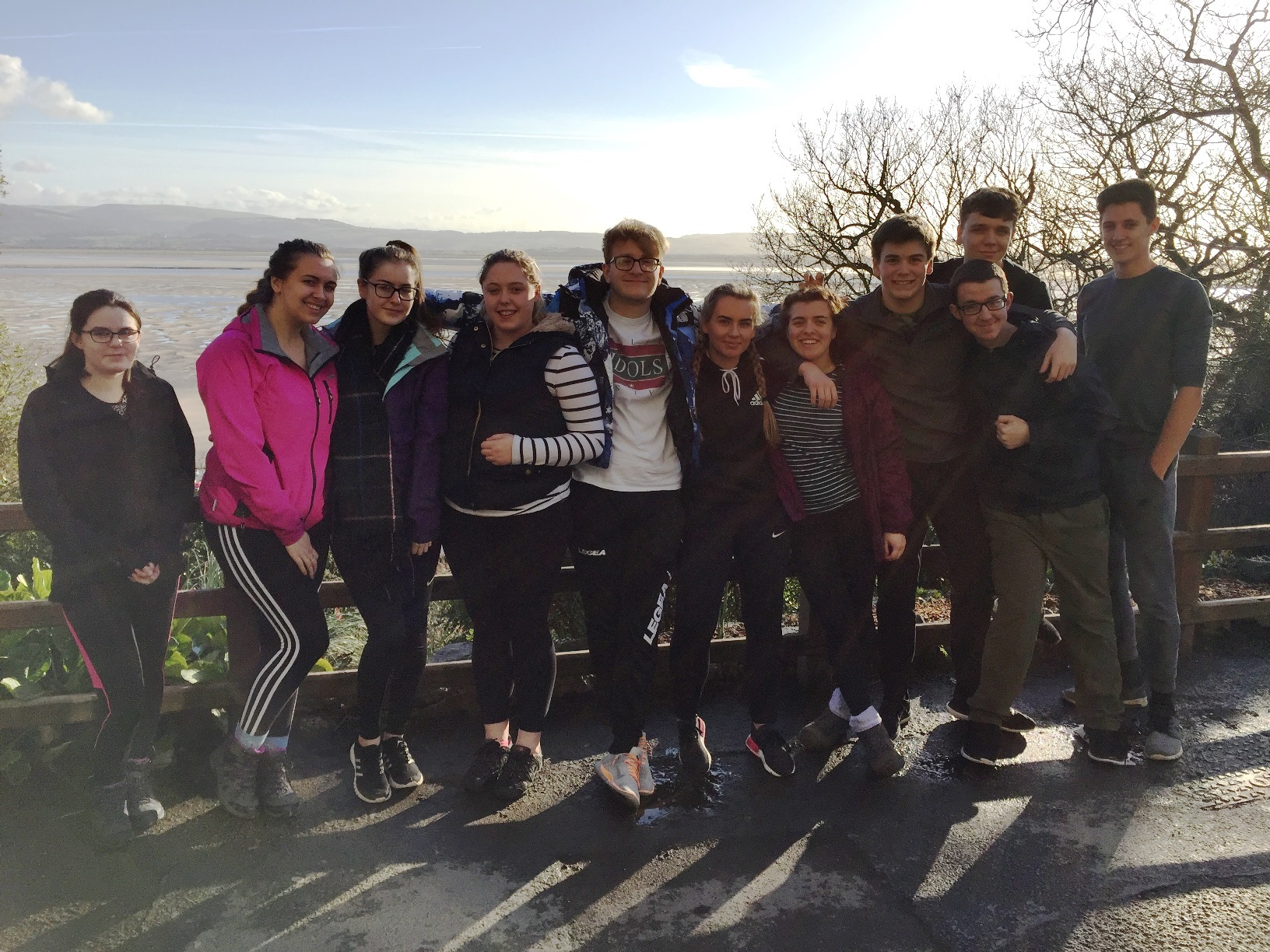 NSC UPS students at the Outward Bound Centre, near Aberdovey during their recent trip