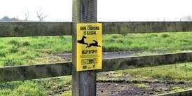 Hare coursing gangs sign