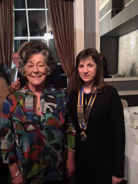 Lady Trevor and Sherie Soper, president of Borderland Rotary Club