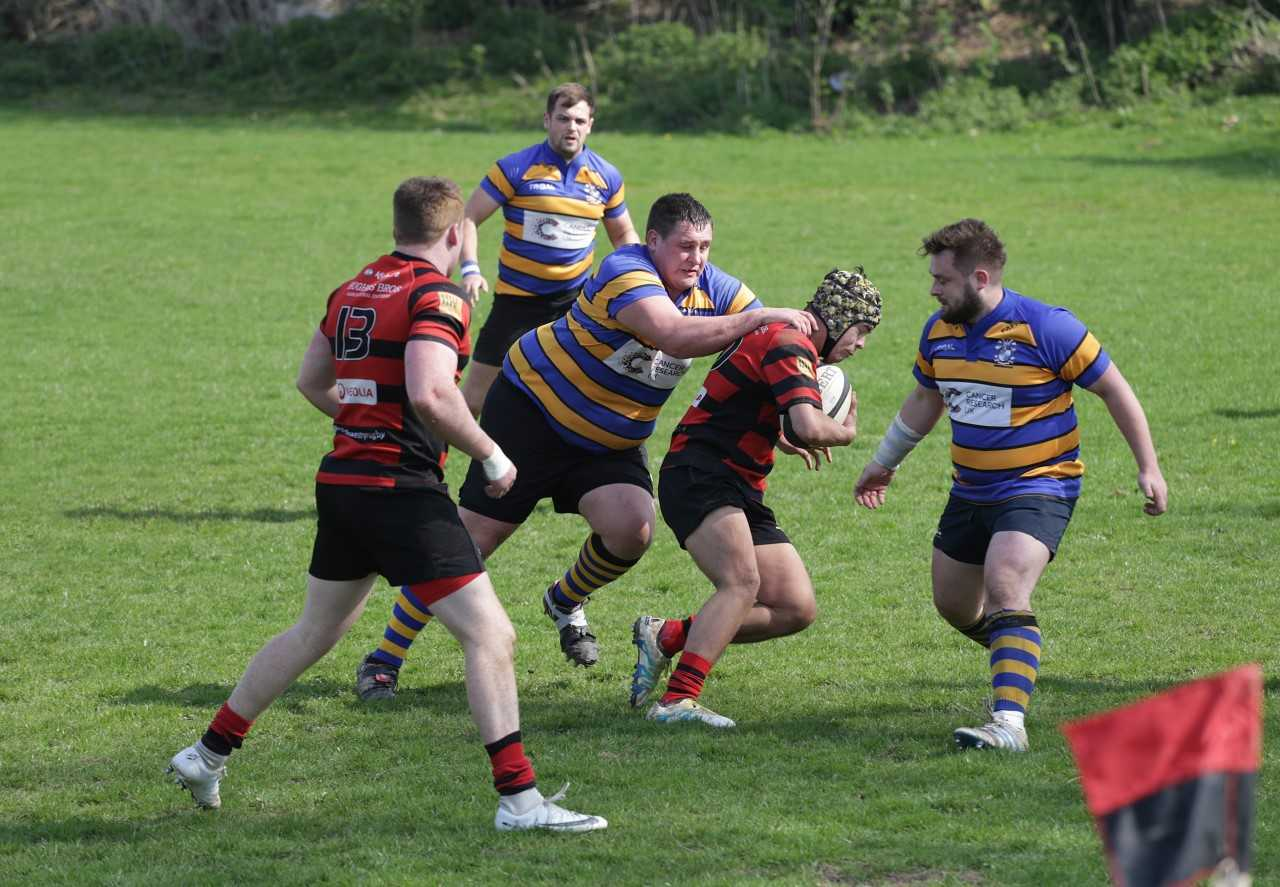 Oswestry on the attack against Dukinfield