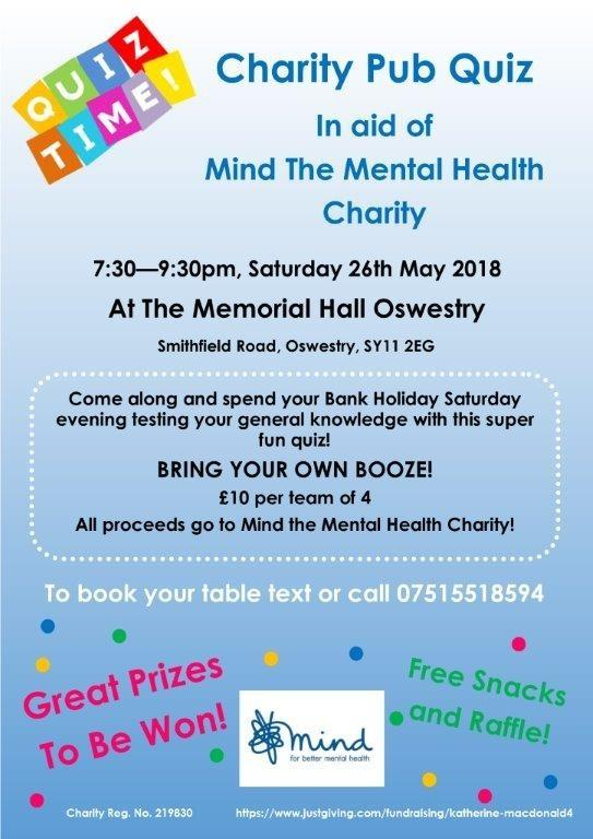 Coffee Morning And Quiz Night In Aid Of Mental Health