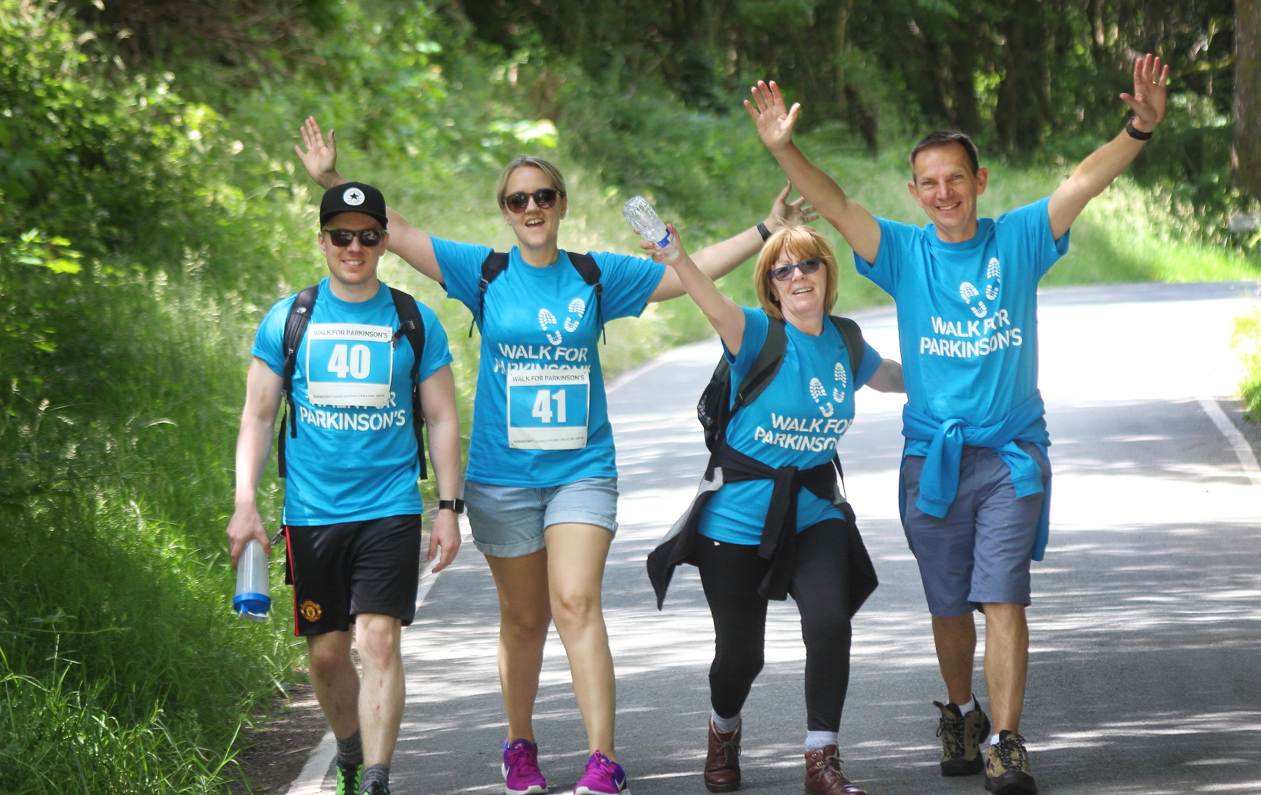 Walkers in last year's Walk for Parkinson's event