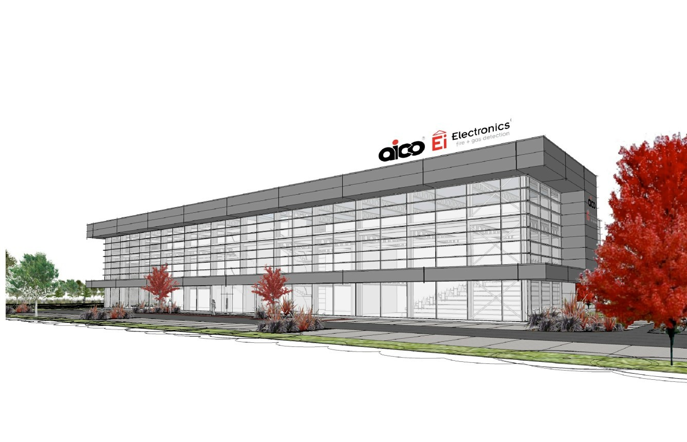 An artists impression of the proposed new UK headquarters of Oswestry-based Aico Ltd, included in a planning application to Shropshire Council