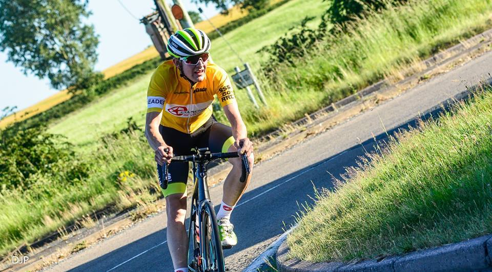 : Kirk Vickers retained his yellow jersey with a fourth place finish