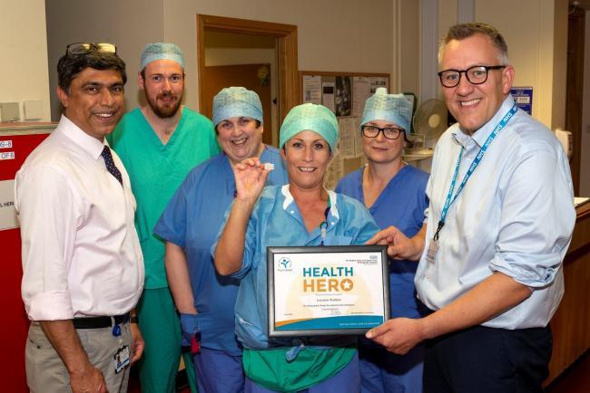 """Hospital Worker Named RJAH's """"Health Hero"""""""