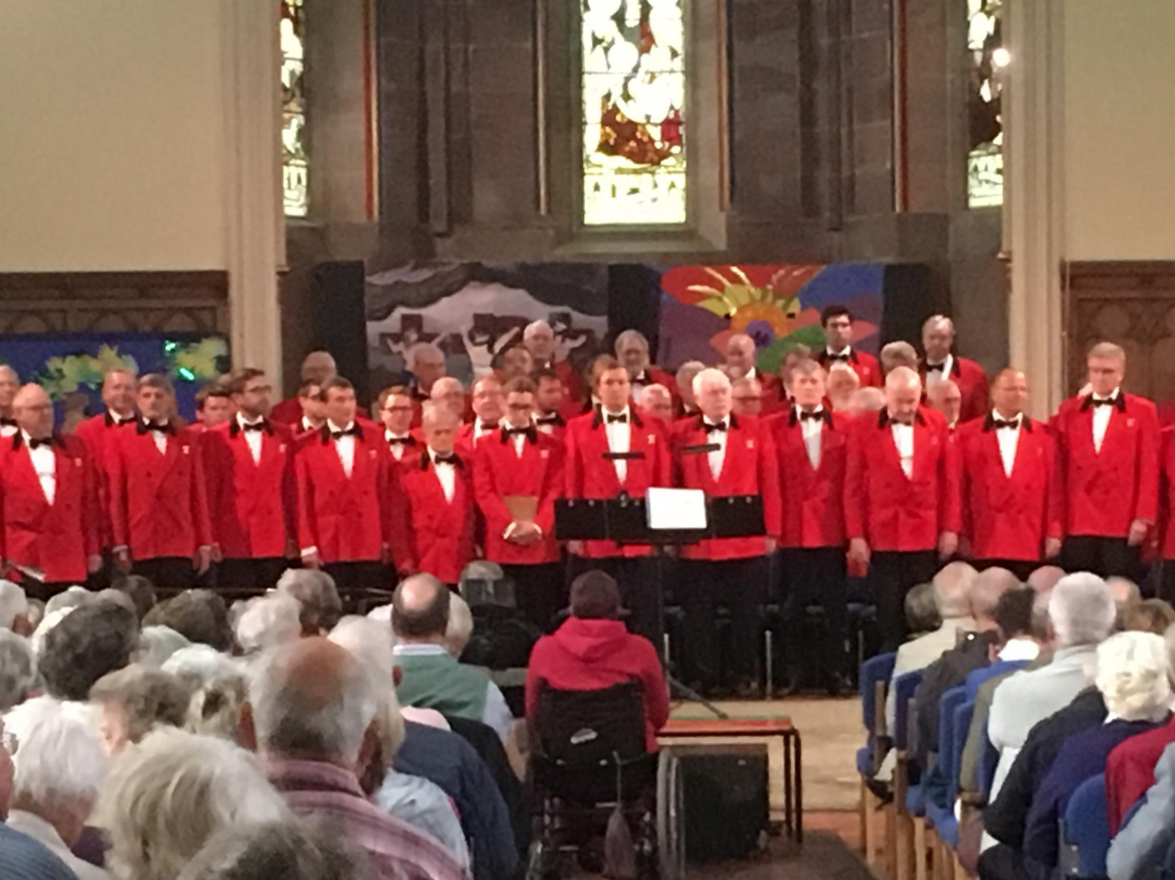 The London Male Voice Choir at Hioly Trinity Church, Oswestry
